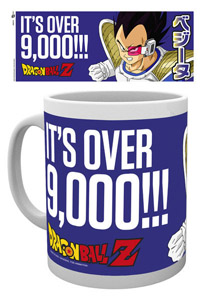 MUG DRAGON BALL Z IT S OVER 9000