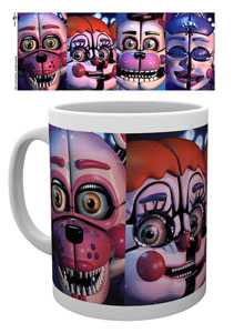 FIVE NIGHTS AT FREDDY´S MUG SISTER LOCATION FACES