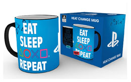 PLAYSTATION MUG EFFET THERMIQUE EAT SLEEP REPEAT