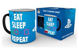 PLAYSTATION MUG EFFET THERMIQUE EAT SLEEP REPEAT