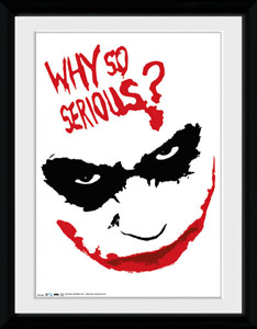 DC COMICS POSTER ENCADRE WHY SO SERIOUS