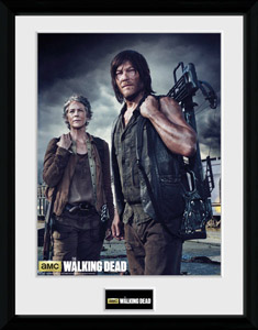 Walking Dead poster encadré Carol and Daryl 45 x 34 cm