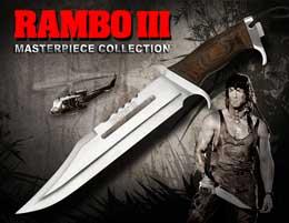REPLIQUE 1/1 COUTEAU RAMBO III STANDARD EDITION 46 CM
