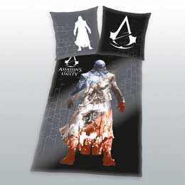 ASSASSINS CREED PARURE DE LIT UNITY 135 X 200 CM / 80 X 80 CM