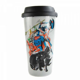 JUSTICE LEAGUE MUG DE VOYAGE TEAM