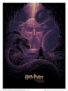 LITHOGRAPHIE HARRY POTTER & THE EYES OF THE BASILISK 61 X 46 CM