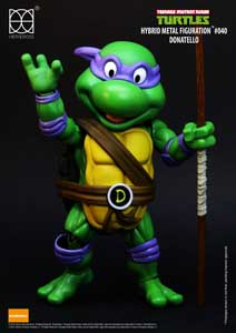 Photo du produit LES TORTUES NINJA FIGURINE HYBRID METAL DONATELLO 14 CM