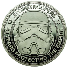ORIGINAL STORMTROOPER PIECE DE COLLECTION 40 YEARS PROTECTING THE EMPIRE
