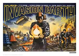 DOCTOR WHO LITHOGRAPHIE INVASION EARTH LANDSCAPE