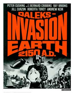 DOCTOR WHO LITHOGRAPHIE INVASION EARTH 35 X 28 CM