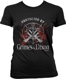 T-SHIRT FEMME WALKING DEAD GRIMES & DIXON PROTECTION