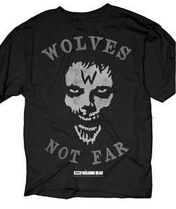 T-SHIRT WALKING DEAD WOLVES NOT FAR