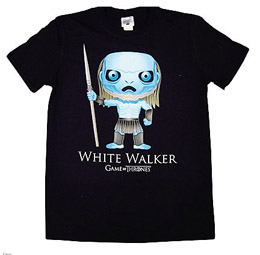 GAME OF THRONES T-SHIRT WHITE WALKER BLING ART