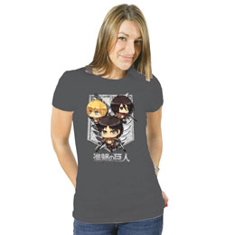 ATTACK ON TITAN T-SHIRT FEMME CARTOON GROUP