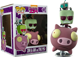FUNKO POP! RIDES INVADER ZIM PIG & INVADER ZIM EXCLUSIVE