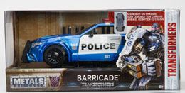 TRANSFORMERS THE LAST KNIGHT BARRICADE POLICE CAR METAL 1/24