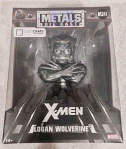 MARVEL COMICS METALS FIGURINE DIECAST WOLVERINE RAW METAL LC EXCLUSIVE 10 CM