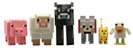 PACK 6 FIGURINES MINECRAFT ANIMALS 6 CM