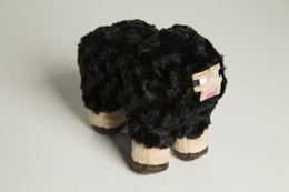 PELUCHE MINECRAFT BLACK SHEEP (Emballage endommagé)