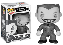 DC COMICS FUNKO POP! HEROES THE JOKER (B&W SERIES) - BOITE ENDOMMAGEE