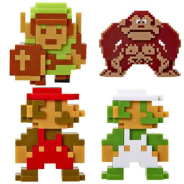 PACK 5 FIGURINES WORLD OF NINTENDO RETRO 8-BIT