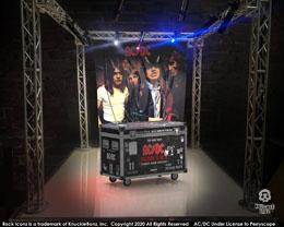 AC/DC STATUETTE ROCK IKONZ ON TOUR HIGHWAY TO HELL CAISSE DE TOURNÉE + DÉCOR DE SCÈNE