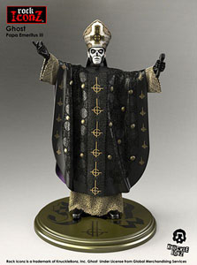 GHOST STATUETTE ROCK ICONZ PAPA EMERITUS III 22 CM