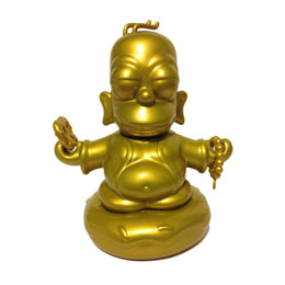 Photo du produit FIGURINE SIMPSONS GOLDEN BUDDHA HOMER 8 CM Photo 1