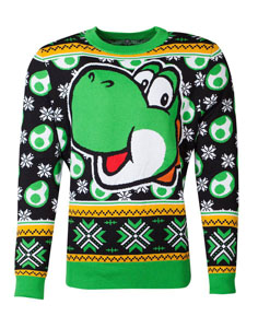 NINTENDO SWEATER CHRISTMAS SUPER MARIO YOSHI
