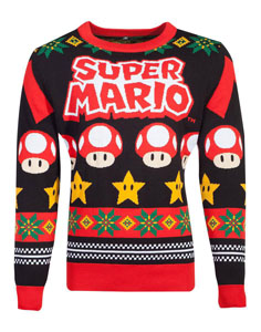 NINTENDO SWEATER CHRISTMAS SUPER MARIO