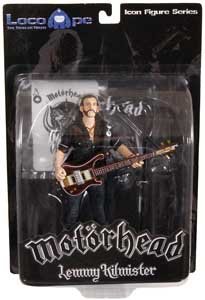 FIGURINE MOTORHEAD LEMMY KILMISTER RICKENBACKER GUITAR DARK WOOD