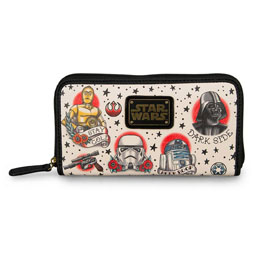 STAR WARS BY LOUNGEFLY PORTE-MONNAIE TATTOO FLASH PRINT