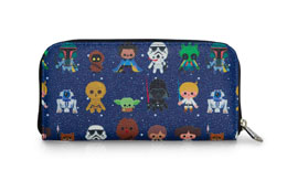 STAR WARS BY LOUNGEFLY PORTE-MONNAIE BABY CHARACTER PRINT
