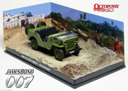 JAMES BOND OCTOPUSSY 1/43 1953 WILLY'S JEEP METAL
