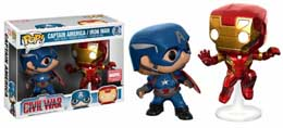 Photo du produit MARVEL COMICS FUNKO POP CAPTAIN AMERICA ET IRON MAN IN BATTLE 2-PACK