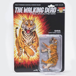 THE WALKING DEAD FIGURINE SHIVA FORCE TIGER SHIVA (BLOODY) 13 CM