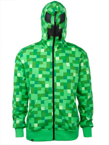 SWEATER À CAPUCHE MINECRAFT CREEPER PREMIUM