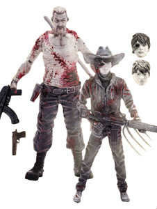 THE WALKING DEAD PACK 2 FIGURINES ABRAHAM FORD & CARL GRIMES PREVIEWS EXCLUSIVE