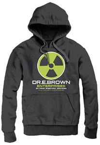 RETOUR VERS LE FUTUR SWEATER A CAPUCHE DR E. BROWN