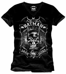 BATMAN T-SHIRT SKULL BAT