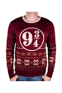 HARRY POTTER SWEATER CHRISTMAS PLATFORM 9 3/4