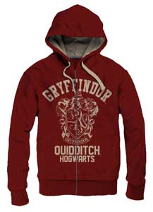 HARRY POTTER SWEATER A CAPUCHE GRYFFINDOR QUIDDITCH VINTAGE