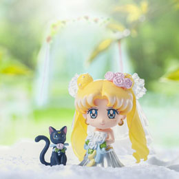 Photo du produit SAILOR MOON PETIT CHARA SET 4 MINI FIGURES HAPPY WEDDING 6 CM Photo 1