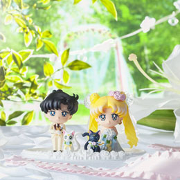 Photo du produit SAILOR MOON PETIT CHARA SET 4 MINI FIGURES HAPPY WEDDING 6 CM Photo 3