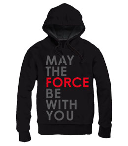 STAR WARS EPISODE VIII SWEATER A CAPUCHE ZIPPE MAY THE FORCE BE WITH YOU