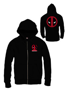 DEADPOOL SWEATER A CAPUCHE ZIPPE LOGO