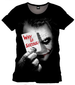 BATMAN T-SHIRT WHY SO SERIOUS