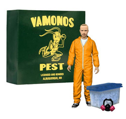 BREAKING BAD JESSE PINKMAN FIGURINE - TENUE CHIMISTE ORANGE 15 CM