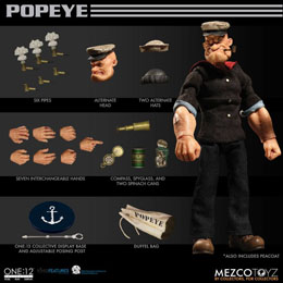Photo du produit POPEYE FIGURINE 1/12 POPEYE 14 CM Photo 1