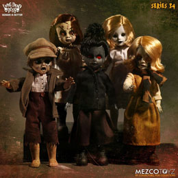 5 POUPEES LIVING DEAD DOLLS 25 CM THE TIME HAS COME TO TELL THE TALE (SERIE 34)